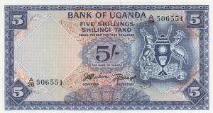 Uganda, 5 Shillings, 1966, UNC, p1