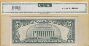 United States of America, 5 Dollars, 1963, UNC, p383