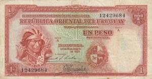 Uruguay, 1 Peso, 1935, VF, p28a