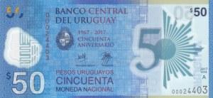 Uruguay, 50 Dollars, 2017, UNC, pNew