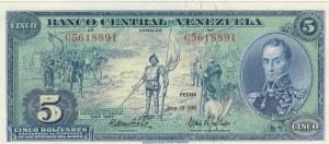 Venezuela, 5 Bolivares, 1966, UNC, p49
