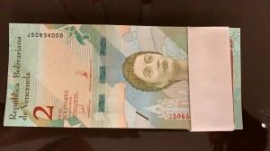 Venezuela, 2 Bolivares, 2018, UNC, pNew, BUNDLE