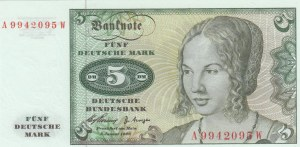 West Germany, 5 Mark, 1960, UNC, p18a