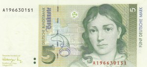 West Germany, 5 Mark, 1991, UNC (-), p37