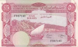 Yemen Democratic Republic, 5 Dinars, 1965, XF, p4b