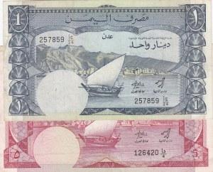 Yemen Democratic Republic,  1984, VF,  Total 2 banknotes