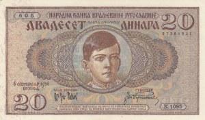 Yugoslavia, 20 Dinara, 1936, UNC, p30