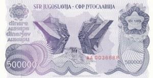 Yugoslavia, 500000 Dinara, 1989, UNC, p98a