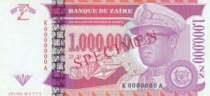 Zaire, 1.000.000 Nouveaux Zaires, 1996, UNC, p79, SPECIMEN