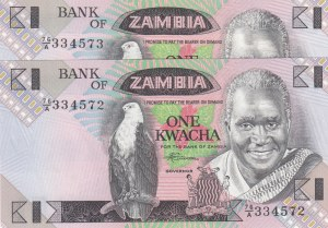 Zambia, 1Kwacha, 1980/88, UNC, p23B,