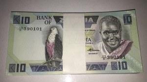 Zambia, 10 Kwacha, 1980/88, UNC, p26e, BUNDLE