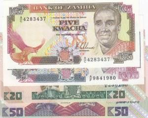 Zambia,  Total 4 banknotes