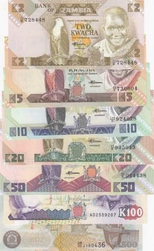 Zambia,  Total 7 banknotes
