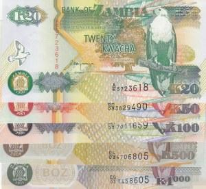 Zambia,  Total 5 banknotes