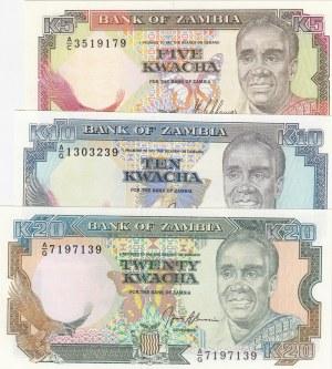 Zambia,  Total 3 banknotes