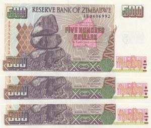 Zimbabwe, 500 Dollars, 2001, UNC, p10