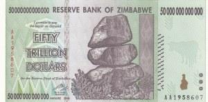 Zimbabwe, 50.000.000.000.000 Dollars, 2008, UNC, p90