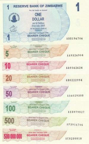 Zimbabwe,  UNC,  Total 8 banknotes