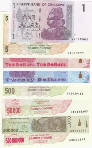 Zimbabwe,  Different 8 banknotes