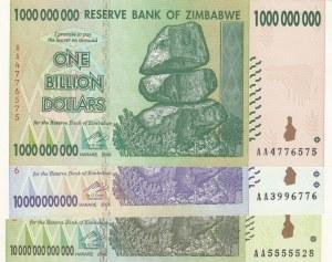 Zimbabwe,  Total 3 banknotes