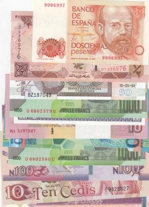 Mix Lot,  UNC,  total 11 banknotes