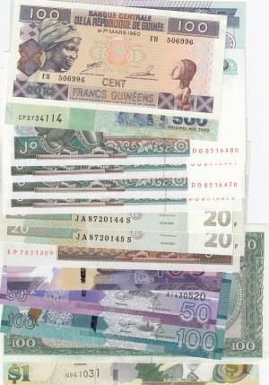 Mix Lot,  UNC,  total 15 banknotes