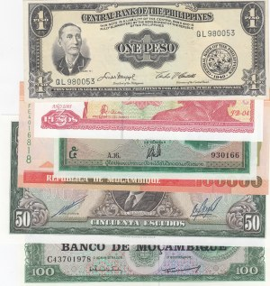 Mix Lot,  UNC,  Lot of 6 different banknotes