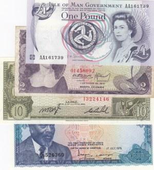 Mix Lot,  Total 4 banknotes