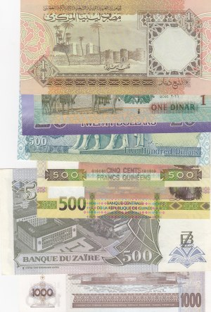 Mix Lot,  Total 8 banknotes