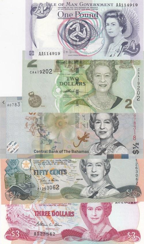 Mix Lot,  UNC,  Total 5 banknotes