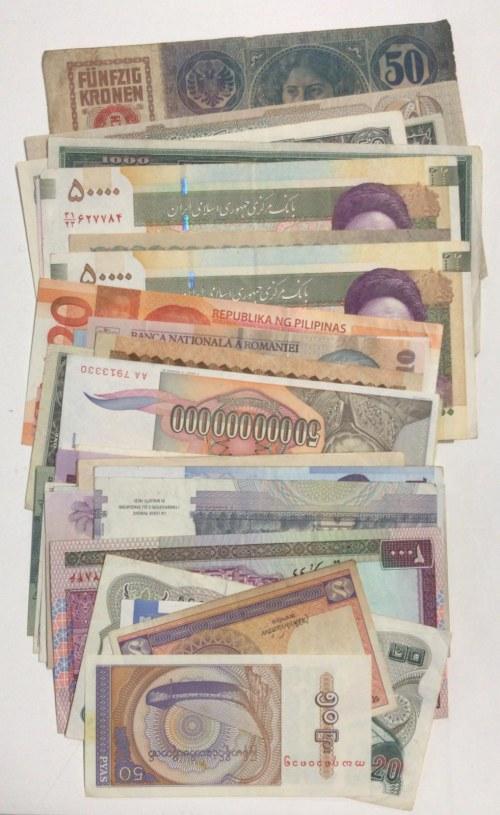 Mix Lot,  FINE,  Total  45 banknotes