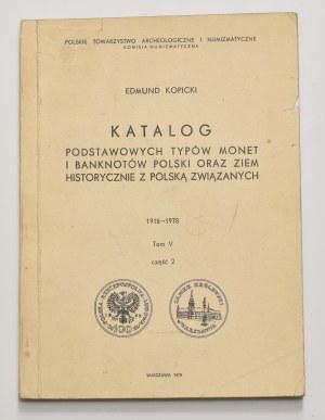 E. Kopicki, Katalog podstawowych typów monet i banknotów, tom V, część 2