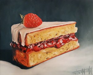 Szymon Kurpiewski, Strawberry cake, 2019