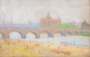Stanisław Wyspiański (1869 Kraków - 1907 tamże), Widok Starego Miasta w Dreźnie, 1890 r.