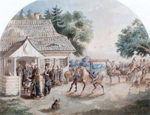 Józef Brandt (1841 Szczebrzeszyn – 1915 Radom), Wyjazd młodego Paska na wojnę, 1856 r.