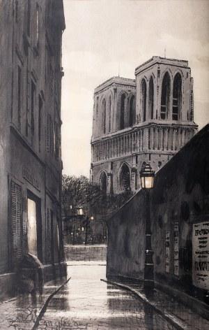 Odo Dobrowolski (1883 Czerniowice – 1917 Kijów), Nokturn Paryski. Widok na Notre Dame, 1911 r.