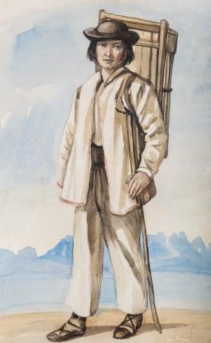 Piotr Michałowski (1800 Kraków – 1855 Krzyżtoporzyce), Młody góral z koszem na plecach, około 1835 - 1840 r.