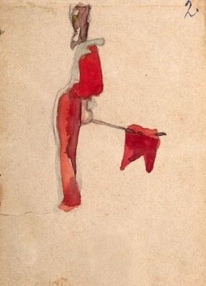 Jan Stanisławski (1860 Olszana/Ukraina - 1907 Kraków), Chorągiew (praca dwustronna)