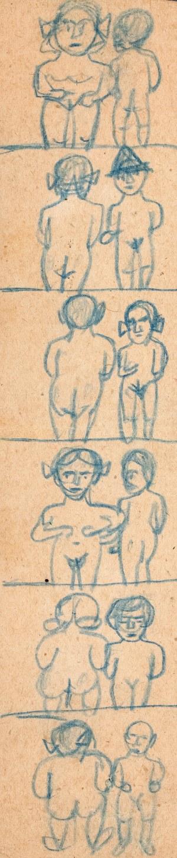 Nikifor Krynicki (1895 Krynica-1968 Folusz), Scenki erotyczne
