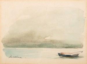 Marian Mokwa (1889 Malary - 1987 Sopot), Pejzaż z łódką