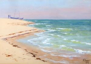 Soter Małachowski-Jaxa (1867 Wolanów - 1952 Kraków), Brzeg morza, 1929 r.