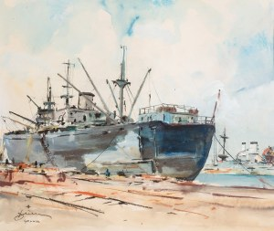 Antoni Suchanek (1901 Rzeszów - 1982 Gdynia), Statek