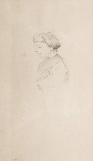 Jacek Malczewski (1854 Radom - 1929 Kraków), Popiersie dziecka z lewego profilu
