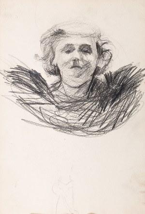 Włodzimierz Tetmajer (1862 Harklowa - 1923 Kraków), Studium głowy kobiecej, (praca dwustronna)
