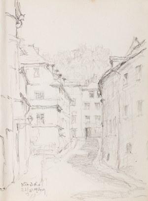 Józef Pieniążek (1888 Pychowice -1953 Kraków), Uliczka w Kłodzku