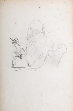 Stanisław Chlebowski (1835 Pokutyńce na Podolu - 1884 Kowanówko k. Poznania), Artysta przy pracy (praca dwustronna)