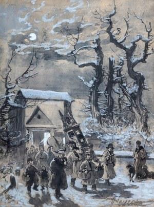 Michał Pociecha (1852 Prokocim - 1908 Kraków), Po kolędzie