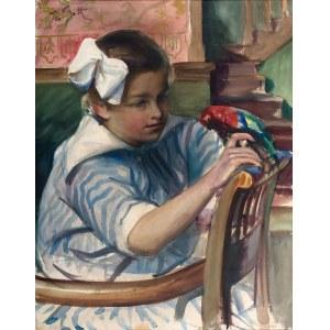 Teodor Grott (1884 Częstochowa - 1972 Kraków), Dziewczyna z papugą