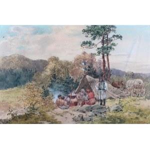 Seweryn Bieszczad (1852 Jasło -1923 Krosno), Obóz cygański
