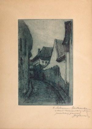 Józef Pieniążek (1888 Pychowice -1953 Kraków), Uliczka w Wilnie, 1923 r